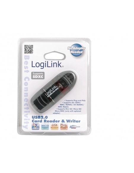 LogiLink Cardreader USB 2.0 Stick external for SD/MMC kortinlukija Musta Logitech CR0007 - 2