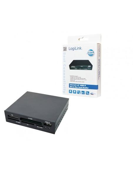 LogiLink CR0012 kortinlukija Sisäinen Musta USB 2.0 Logitech CR0012 - 1