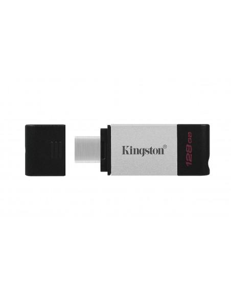 Kingston Technology DataTraveler 80 USB-muisti 128 GB USB Type-C 3.2 Gen 1 (3.1 1) Musta, Hopea Kingston DT80/128GB - 4