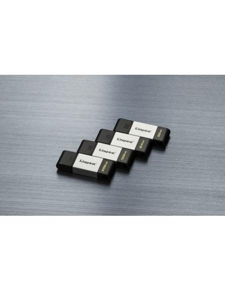 Kingston Technology DataTraveler 80 USB-muisti 128 GB USB Type-C 3.2 Gen 1 (3.1 1) Musta, Hopea Kingston DT80/128GB - 8
