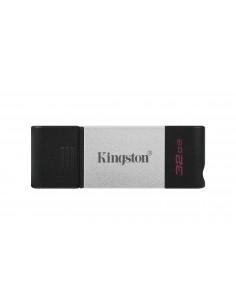 Kingston Technology DataTraveler 80 USB-muisti 32 GB USB Type-C 3.2 Gen 1 (3.1 1) Musta, Hopea Kingston DT80/32GB - 1