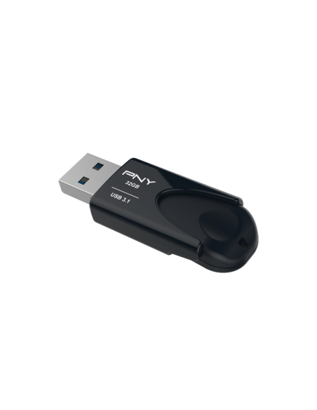 PNY Attache 4 USB-sticka 32 GB USB Type-A 3.2 Gen 1 (3.1 1) Svart Pny FD32GATT431KK-EF - 3