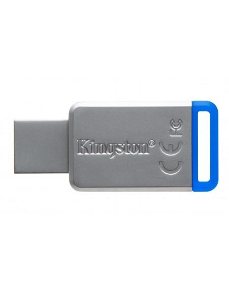 Kingston Technology DataTraveler 50 64GB USB-muisti USB A-tyyppi 3.2 Gen 1 (3.1 1) Sininen, Hopea Kingston DT50/64GB - 3