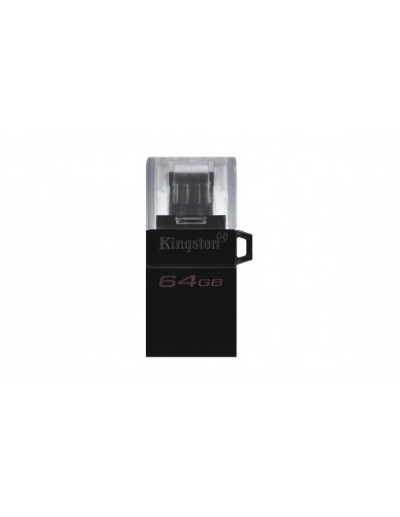 Kingston Technology DataTraveler microDuo3 G2 USB-muisti 64 GB USB Type-A / Micro-USB 3.2 Gen 1 (3.1 1) Musta Kingston DTDUO3G2/
