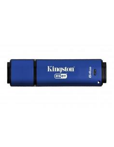 Kingston Technology DataTraveler Vault Privacy 3.0 Anti-Virus 64GB USB-muisti USB A-tyyppi 3.2 Gen 1 (3.1 1) Sininen Kingston DT