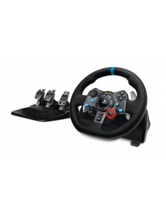 Logitech G G29 Ohjauspyörä + polkimet Playstation 3,PlayStation 4 Analoginen USB 2.0 Musta Logitech 941-000112 - 1