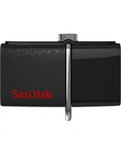Sandisk Ultra Dual USB 256 GB USB-muisti Type-A / Micro-USB 3.2 Gen 1 (3.1 1) Musta Sandisk SDDDC2-256G-G46 - 1