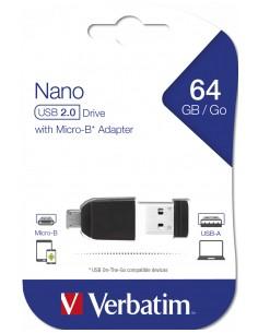 Verbatim 49329 USB-muisti 64 GB 2.0 Musta Verbatim 49329 - 1
