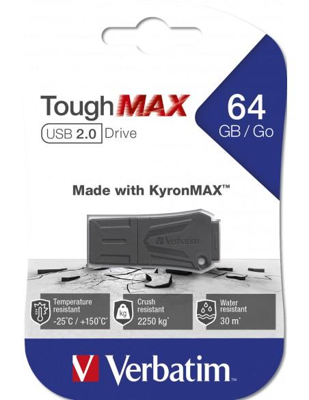 Verbatim ToughMAX USB-muisti 64 GB USB A-tyyppi 2.0 Musta Verbatim 49332 - 4