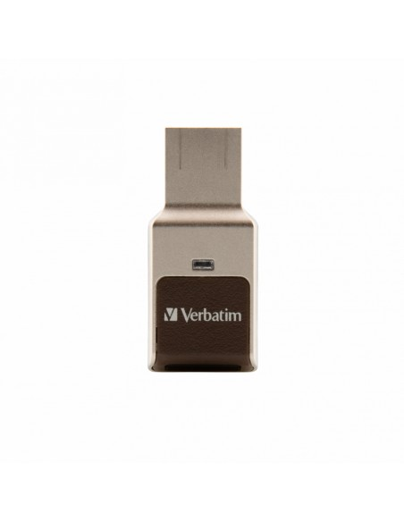 Verbatim Fingerprint Secure USB-muisti 64 GB USB A-tyyppi 3.2 Gen 1 (3.1 1) Hopea Verbatim 49338 - 1