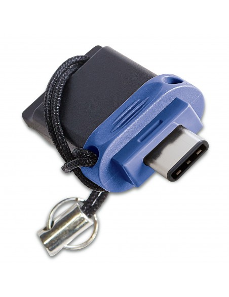 Verbatim 49966 USB-muisti 32 GB USB Type-A / Type-C 3.2 Gen 1 (3.1 1) Musta, Sininen, Hopea Verbatim 49966 - 1