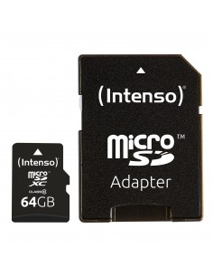 Intenso 64GB MicroSDHC flash-muisti Luokka 10 Intenso 3413490 - 1