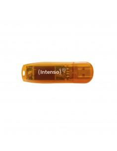 Intenso Rainbow Line USB-muisti 64 GB USB A-tyyppi 2.0 Oranssi Intenso 3502490 - 1
