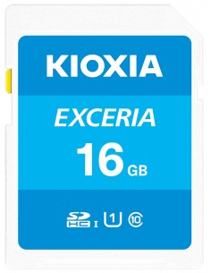 Kioxia Exceria flash-muisti 16 GB SDHC Luokka 10 UHS-I Kioxia LNEX1L016GG4 - 1