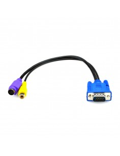 Black Box AVS-CBL-VG-CV 0.32m VGA (D-Sub) RCA + S-Video Monivärinen videokaapeli-adapteri Black Box AVS-CBL-VG-CV - 1