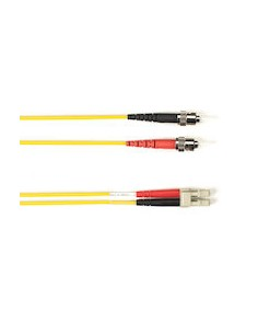 Black Box FO Patch Cable Col 10Gbit Multi-m - Yello LC-ST 1m valokuitukaapeli OFNR OM3 Keltainen Black Box FOCMR10-001M-STLC-YL
