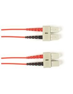 Black Box SC-SC 5.0m valokuitukaapeli 5 m Punainen Black Box FOCMR10-005M-SCSC-RD - 1