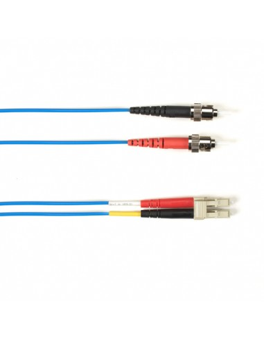 Black Box FO Patch Cable Col 10Gbit Multi-m - Blue LC-ST 5m valokuitukaapeli OFNR OM3 Sininen Black Box FOCMR10-005M-STLC-BL - 1