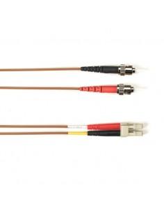 Black Box FO Patch Cable Col 10Gbit Multi-m - Brown LC-ST 5m valokuitukaapeli OFNR OM3 Ruskea Black Box FOCMR10-005M-STLC-BR - 1