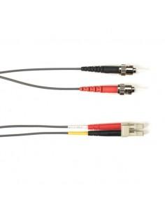 Black Box FO Patch Cable Col 10Gbit Multi-m - Gray LC-ST 5m valokuitukaapeli OFNR OM3 Harmaa Black Box FOCMR10-005M-STLC-GR - 1