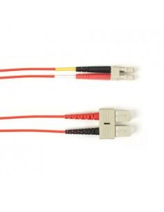 Black Box FOLZH10-020M-SCLC-RD valokuitukaapeli 20 m LSZH OM3 SC LC Punainen Black Box FOLZH10-020M-SCLC-RD - 1