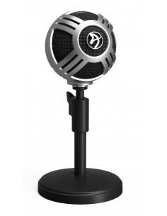 Arozzi Sfera Pro Table microphone Musta, Hopea Arozzi SFERA-PRO-SILVER - 1