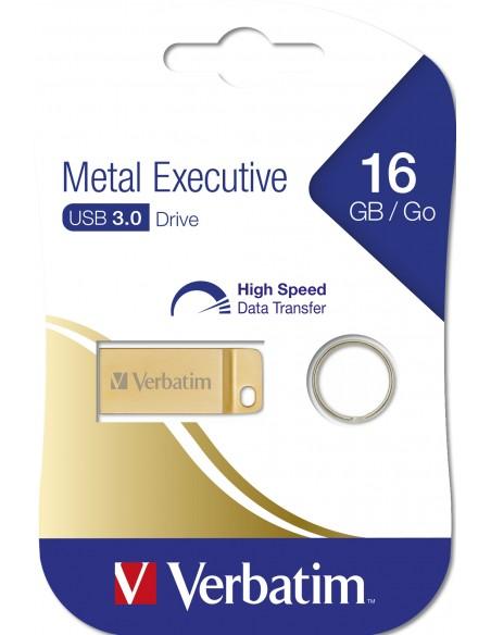Verbatim Metal Executive USB-muisti 16 GB USB A-tyyppi 3.2 Gen 1 (3.1 1) Kulta Verbatim 99104 - 5