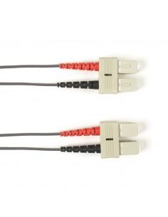Black Box FO Patch Cable Color Multi-m OM4 - Gray SC-SC 20m valokuitukaapeli LSZH Harmaa Black Box FOLZHM4-020M-SCSC-GR - 1