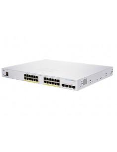 Cisco CBS350-24P-4G-EU verkkokytkin Hallittu L2/L3 Gigabit Ethernet (10/100/1000) Hopea Cisco CBS350-24P-4G-EU - 1