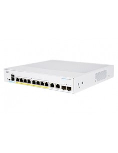 Cisco CBS350-8P-E-2G-EU network switch Managed L2/L3 Gigabit Ethernet (10/100/1000) Silver Cisco CBS350-8P-E-2G-EU - 1