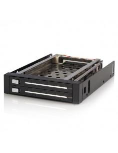 """StarTech.com HSB220SAT25B asemapaikkaan asennettava paneeli 8.89 cm (3.5"""") Etupaneeli Musta Startech HSB220SAT25B - 1"""