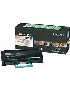 Lexmark X463, X464, X466 High Yield Return Program Toner Cartridge Alkuperäinen Musta Lexmark X463H11G - 1