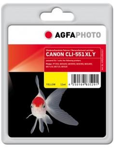 AgfaPhoto APCCLI551XLY mustekasetti Keltainen 1 kpl Agfaphoto APCCLI551XLY - 1