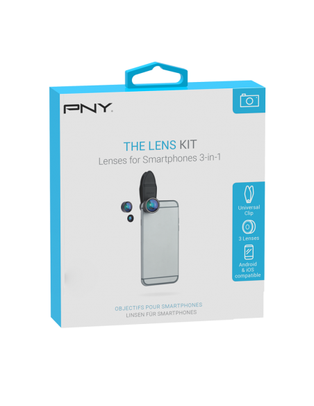 PNY LNS-3N1-02-RB matkapuhelimen linssi Kalansilmä, makro ja laaja Musta Pny LNS-3N1-02-RB - 3