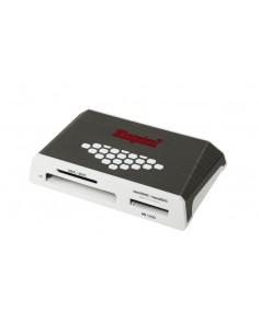 Kingston Technology USB 3.0 High-Speed Media Reader kortläsare 3.2 Gen 1 (3.1 1) Grå, Vit Kingston FCR-HS4 - 1