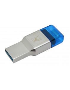 Kingston Technology MobileLite Duo 3C kortinlukija USB 3.2 Gen 1 (3.1 1) Type-A/Type-C Sininen, Hopea Kingston FCR-ML3C - 1