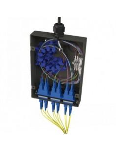 Black Box Blackbox Tamper Resistant Fibre Wallbox - Black, 8 St, Black Box FPU-8STMM-BK - 1