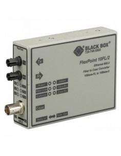 Black Box Blackbox Flexpoint 10m Modular Media Converter - Black Box LMC211AE-SM - 1