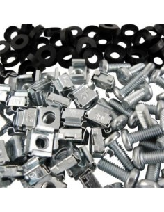 Black Box Blackbox Cage Nuts, Washers And Screws - 50-pack Black Box RAKCAGENUT50-SP - 1