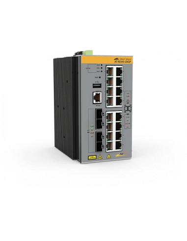 Allied Telesis AT-IE340-20GP-80 hanterad L3 Gigabit Ethernet (10/100/1000) Strömförsörjning via (PoE) stöd Grå Allied Telesis AT