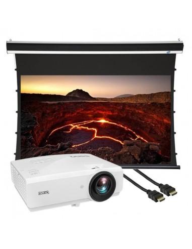 """BenQ SU754 projektori + 100"""" mattavalkoinen valkokangas + 7,5m kaapeli Cityplus SU754-VKA100MV-B75 - 1"""