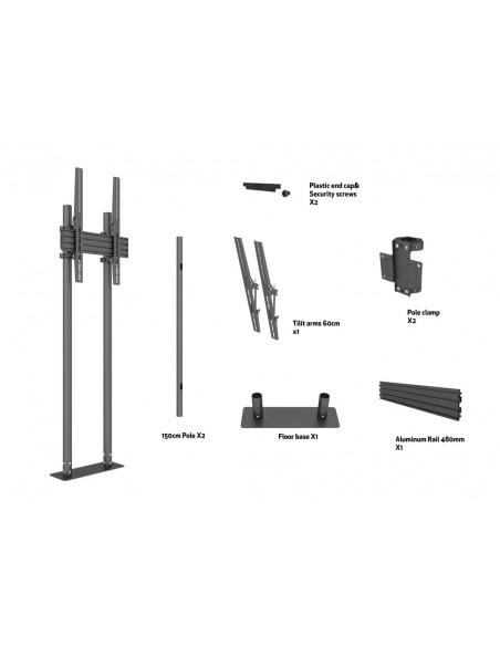 "Multibrackets M Dual Pole Floormount Pro 65""-90"" Multibrackets 7350073738953 - 7"
