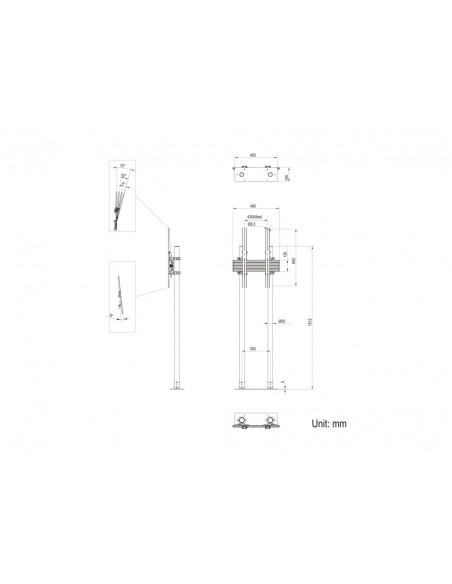 """Multibrackets 8953 fäste för skyltningsskärm 2.29 m (90"""") Svart Multibrackets 7350073738953 - 13"""