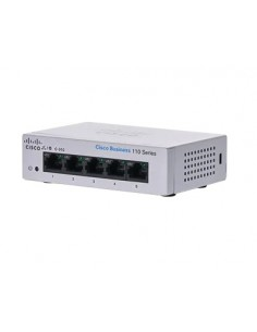 Cisco CBS110 Unmanaged L2 Gigabit Ethernet (10/100/1000) 1U Grey Cisco CBS110-5T-D-EU - 1