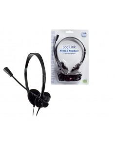 LogiLink Stereo Headset Earphones with Microphone Kuulokkeet Musta Logitech HS0002 - 1