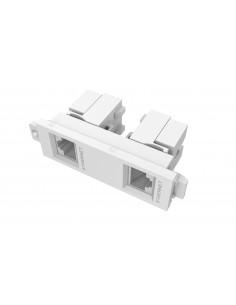 Vision TC3 2RJ45 socket-outlet 2 x RJ-45 White Vision TC3 2RJ45 - 1