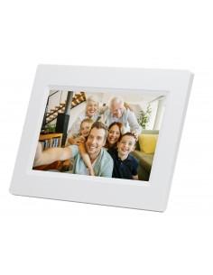 "Denver PFF-710WHITE digital photo frame White 17.8 cm (7"") Touchscreen Wi-Fi Denver 119101010020 - 1"