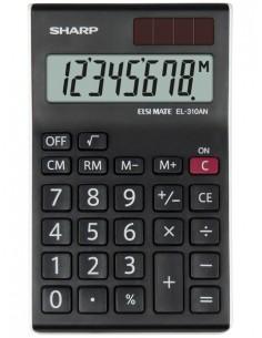 Sharp EL-310AN laskin Työpöytä Näyttölaskin Musta, Valkoinen Sharp SH-EL310ANWH - 1