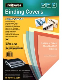 Fellowes 53763 binding cover A4 PVC Transparent 100 pc(s) Fellowes 53763 - 1