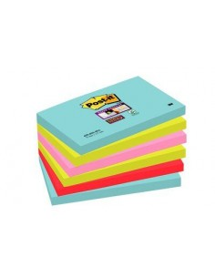 3M 655-6SS-MIA itseliimautuva muistilappu Suorakulmio Sininen, Vaaleanpunainen, Punainen, Keltainen 3m 7100095122 - 1